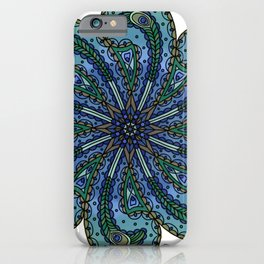 Own Your Beauty - Peacock Feather Mandala iPhone Case