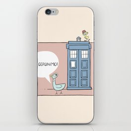 Don't Let the Pigeon Drive the Tardis iPhone Skin
