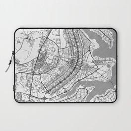 Brasilia Map Line Laptop Sleeve