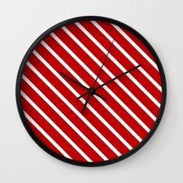 Chilli Diagonal Stripes Wall Clock