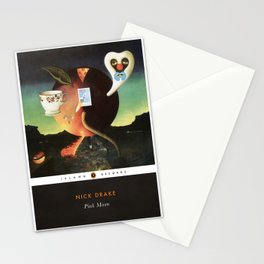 NICK DRAKE - Pink Moon - Album Art Print - Music Poster in style of Penguin Classics Book Cover Stationery Cards