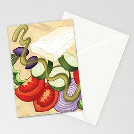 Greek Salad Stationery Cards