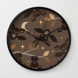 friendly bats Wall Clock