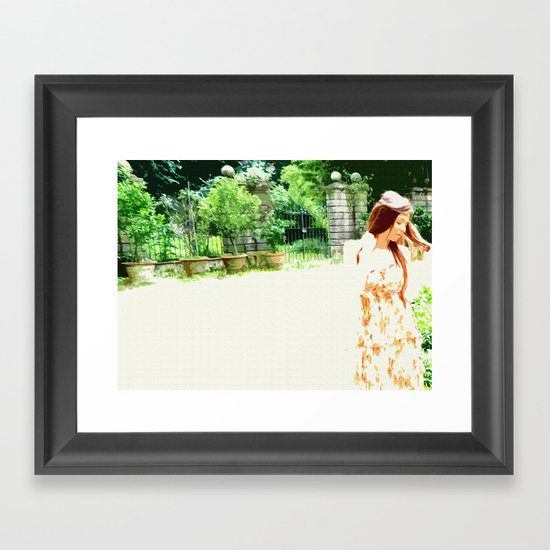IN THE GARDEN Framed Art Print