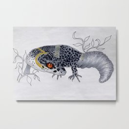 Spotted Gecko Metal Print