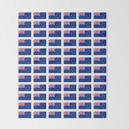 Flag of new zealand -zealand,New Zealander,Kiwi,wellington,Auckland. Throw Blanket