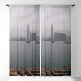 Hong Kong Skyline #decor #society6 #buyart Blackout Curtain