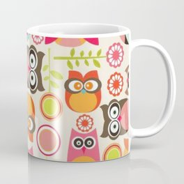 Owl pattern for textiles Coffee Mug