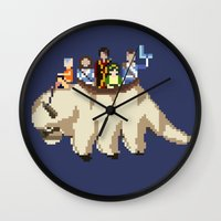aang Wall Clocks featuring The Gaang by NeleVdM