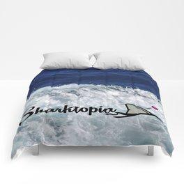 Official Sharktopia Logo Comforters