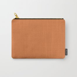 Solid Color - Pantone Amber Glow 16-1350 Orange Carry-All Pouch