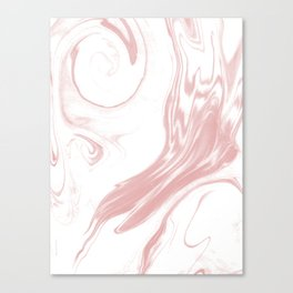 Marble pastel pink 2 Suminagashi watercolor pattern art pisces water wave ocean minimal design Canvas Print