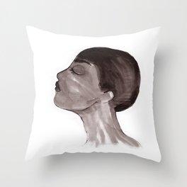 Woman ink 05 Throw Pillow