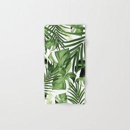Tropical Jungle Leaves Pattern #12 #tropical #decor #art #society6 Hand & Bath Towel