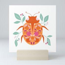 Tangerine Ladybird Mini Art Print