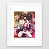 neil young Framed Art Prints featuring Neil Young Original Painting Print by RockChromatic