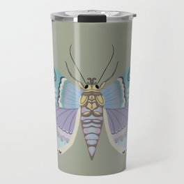 It's time to fly! - gouache and pencil hand drawn butterfly art. Travel Mug