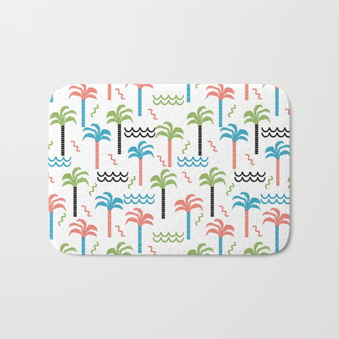 summer tropical shapes modern minimal abstract pattern trendy gifts Bath Mat