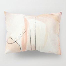 Aly [4]: minimal | pinks | white | black | mixed media | abstract | ink | watercolor | wall art Pillow Sham
