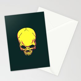 neon skull. Stationery Cards