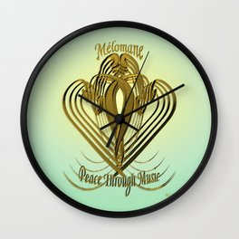 Melomane ~ Peace Through Music Wall Clock