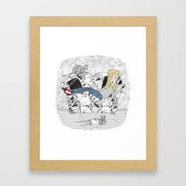 Chat Framed Art Print