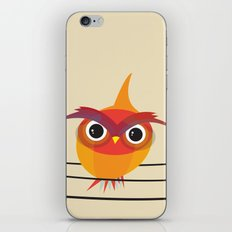 Owl On A Wire iPhone & iPod Skin