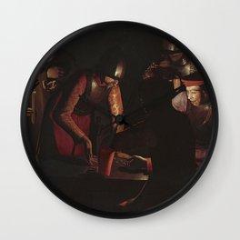 Georges de La Tour - The denial of Saint Peter Wall Clock