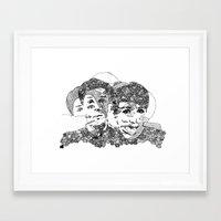 danisnotonfire Framed Art Prints featuring Danisnotonfire & AmazingPhil  by xzwillingex