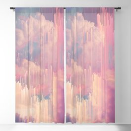Candy Glitched Sky Blackout Curtain