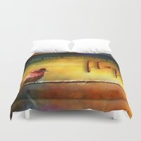 fly Duvet Covers featuring Fly by Ginkelmier