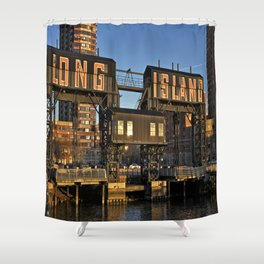 Gantry Plaza State Park, Long Island - New York Shower Curtain