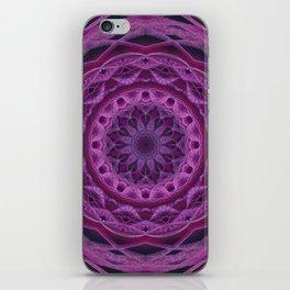 Mandala in pink and purple tones iPhone Skin