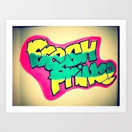 Fresh Prince on a notepad.  Art Print