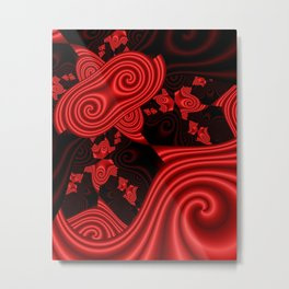 use colors for your home-redblack -1- Metal Print