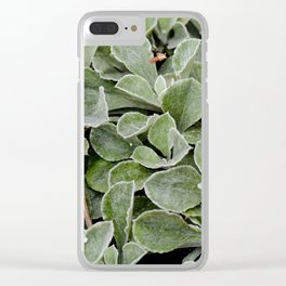Green. Clear iPhone Case