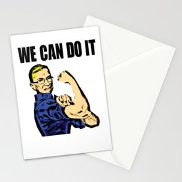 Notorious RBG Ruth Bader Ginsburg We Can Do It Pop Art Stationery Cards
