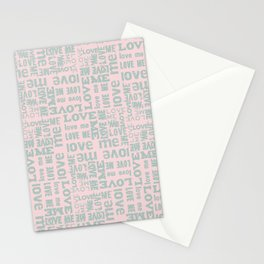 Valentine Love Me Typography Pattern-Mix & Match with Simplicty of life Stationery Cards