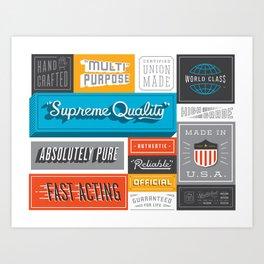 Credentials Art Print