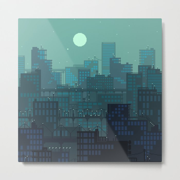 Midnight Blues Metal Print