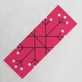 Mod Snowflake Hot Pink Yoga Mat
