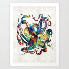 Colorful Octopus Art by Sharon Cummings Art Print