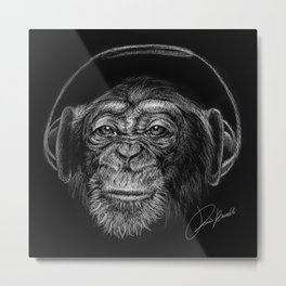 monkey music - scimmia musica - musique de singe - música mono Metal Print
