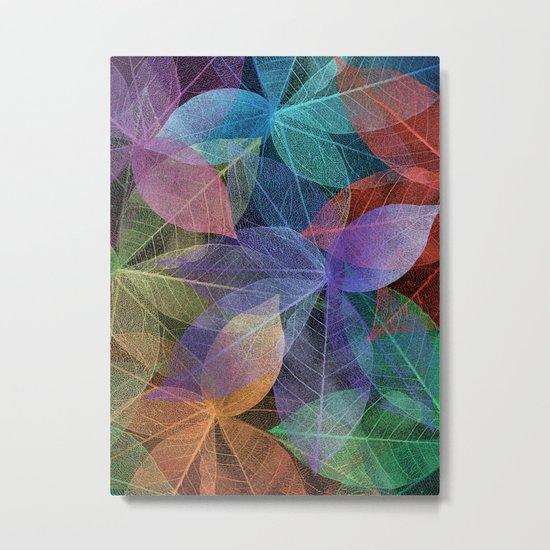 Colored Leaf Pattern 2 Metal Print