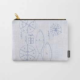 Football Patent Blue Paper Carry-All Pouch
