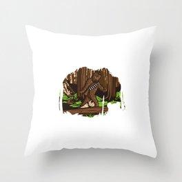Bigfoot of Endor Throw Pillow