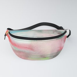 141203 Abstract Watercolor Block 23 Fanny Pack