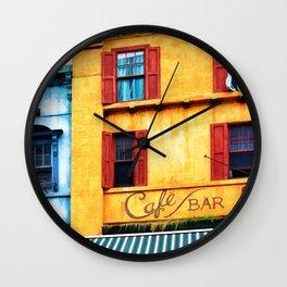 Blue Narrow House Wall Clock