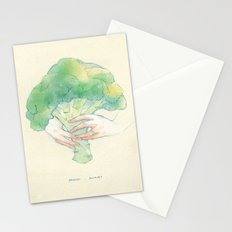 Broccoli bouquet Stationery Cards