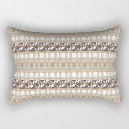 Boho . Beige woven textiles . Rectangular Pillow